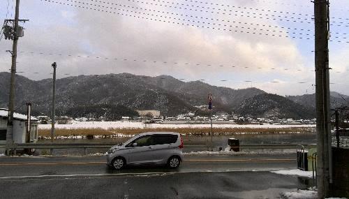 山崎の雪景色