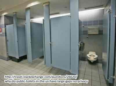 アメリカのトイレのドア