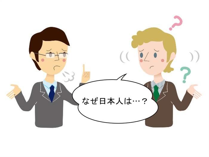 外国人に質問される日本人