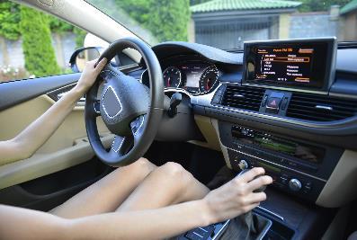 自動車の運転席