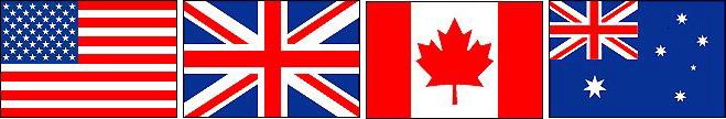 4カ国の国旗
