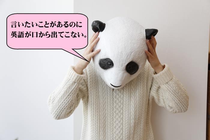 英語が苦手なパンダ