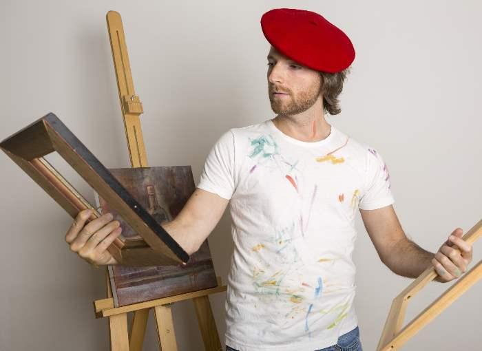 芸術家の男