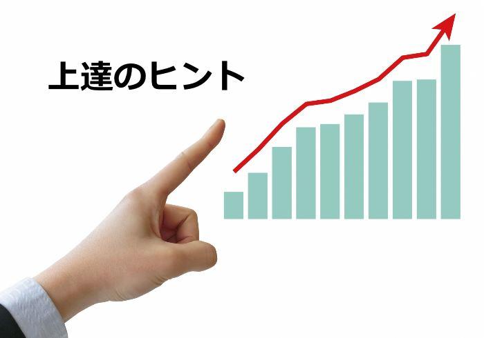 グラフを指さす手