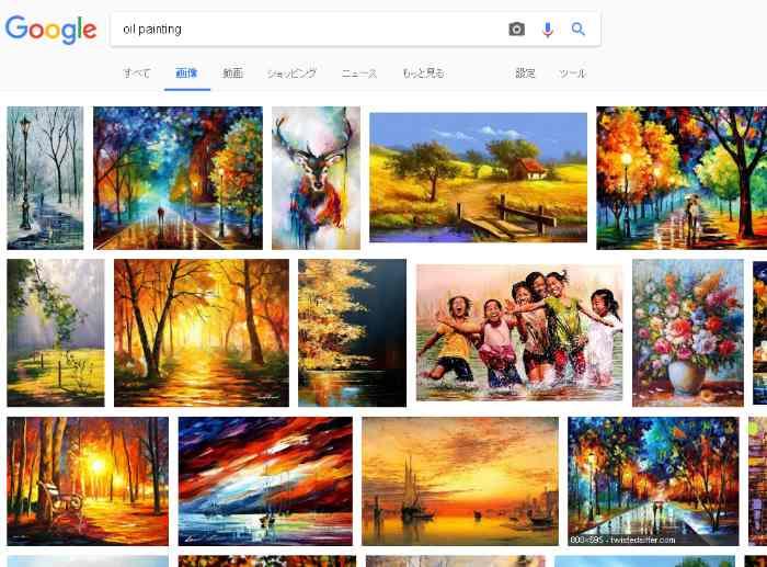 Googleのoil paintingの検索結果