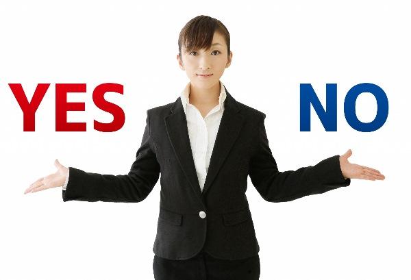 Yes/Noを区別する女性