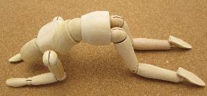 挫折する人形