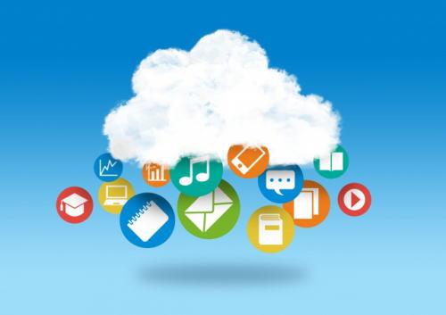 雲の前にメールなどの画像