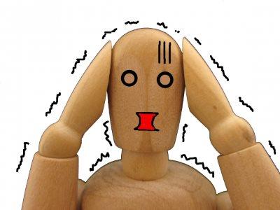 慌てる人形