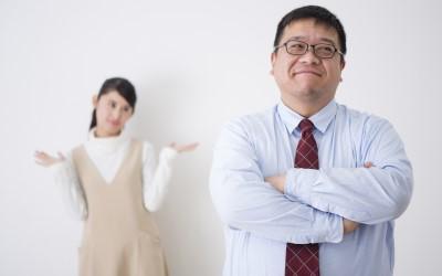 太った男性と妻