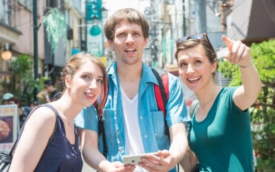 3人の外国人旅行者