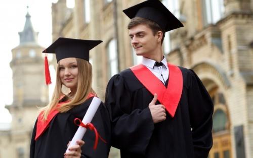 外国人の卒業式