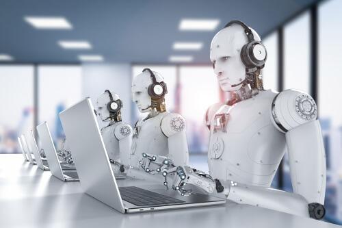 PCを使うロボット
