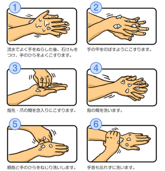 厚生労働省の手洗いポスター